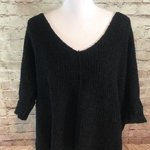 Free People 🦋 oversized short sleeve sweater